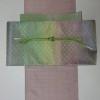 沖縄ハイオ花織のきものに佐波理の帯