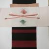 春のコーディネート ピンクの紬と赤黒の結城紬
