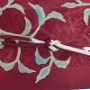 大人のおしゃれな赤い紬と小物展