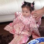 心と体と3歳のお祝い着