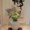 9月のお花と床の間の掛け軸