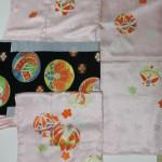 まり柄の7歳のお祝い着と帯
