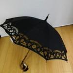 麻のレース日傘と初夏のネイル