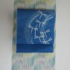 夏明石紬と夏の帯青地とんぼです。