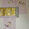 今の時代の色、赤と黄色!プラチナ箔本金箔両方使う手織袋帯