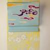 小紋琳派草花黄色地と3本の染め名古屋帯コーデ