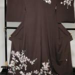 本加賀友禅訪問着枝重桜、こぶしと山野草、野花