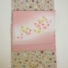 無形文化財江戸小紋青雨にそくさ縞と染め帯と猫や紅葉