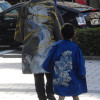 龍のはんてんの偉大なお父様とご子息様の5歳のお祝い(七五三)