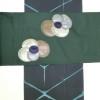 緑の小紋と名古屋帯のコーデ