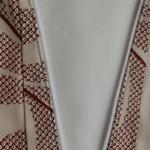 新年用の長襦袢と衿周りのファスナー加工