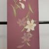 春の絹長襦袢/京紅の赤/百合/桜