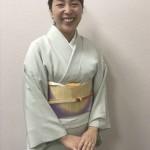 娘の初釜のお茶会は、滝沢先生の色無地が大活躍!