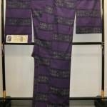 米沢紬と着尺 紫紺染めや黄金繭の着物と帯
