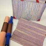 私の奄美布のバッグと帯が織り上がりました!