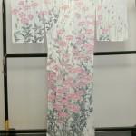 手描友禅作家 遠峰 聖明先生の訪問着と手描き染め九寸名古屋帯が入荷しています!