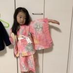 ことなの浴衣の帯を赤から茶色や緑青へ?
