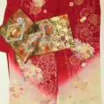 お嬢様サイズにお仕立てして38万円のかわいいお振袖と袋帯