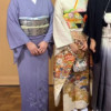 A様がご親戚の7月の結婚式での滝沢先生の四段ぼかし色無地