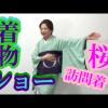 動画:着物ショー 桜の訪問着に帯3枚!
