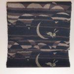 本場結城紬の着物と紫唐草や桜の帯、うさぎや雪輪のお手頃八寸名古屋帯