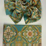 新品袋帯使用 簡単に使えるお振袖用豪華な正絹の作り帯