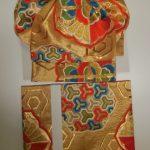振袖用袋帯作り帯(ふくら雀)を2点お作りいたしました。