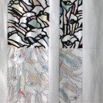日本伝統工芸展作家(正会員)遠峰聖明作 おあつらえ染め九寸名古屋帯カラー