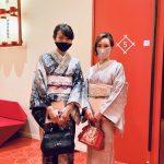 大島紬で御園座を楽しむEiko様からのご報告