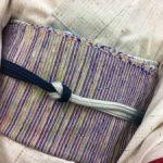 自分の着物で作る手織り奄美裂織名古屋帯と遠峰先生の帯