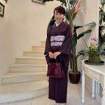 Eiko様が遠峰先生の染め帯で歌舞伎(玉三郎特別講演)見物をなさいました。
