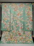Yuzen?f (hand-painted) Kimono dress with a magnificent angel motif
